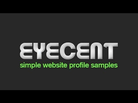 EYECENT Website Profile Video samples