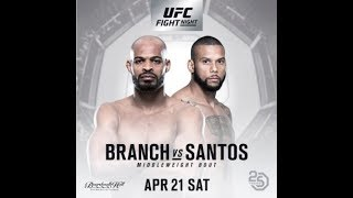 UFC Fight Night 128 Dave Branch vs Thiago Santos|Fight Recap Review by MMA Fighter Hollywood Joe