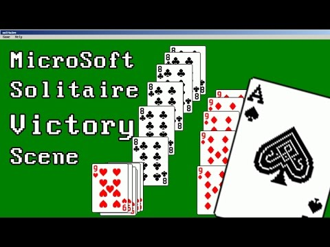 ms solitaire ending victory scene youtube