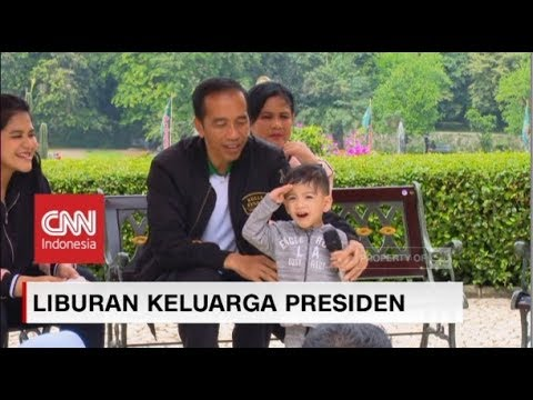Image of Aksi Kocak Jan Ethes, Cucu Jokowi Memperkenalkan Keluarga Presiden