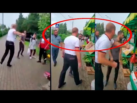 Русский парень наказал азербайджанца, увидев надпись «армянам не продается»
