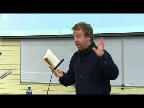 Kevin Barry, reading to students in UCD School of English, Drama, Film and Creative Writing, 2017
