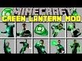 Minecraft GREEN LANTERN MOD l BECOME GREEN LANTERN AND FIGHT SUPER VILLAINS l Modded Mini-Game
