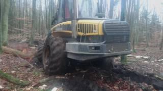 Ponsse Elephant & Ergo in mud.
