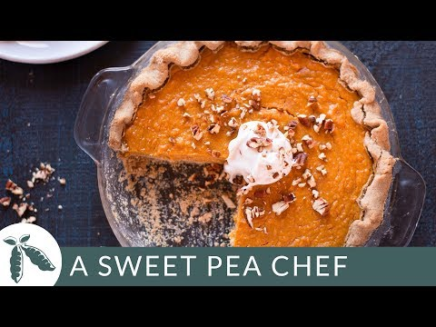Southern Sweet Potato Pie | Healthy Thanksgiving Recipes | A Sweet Pea Chef