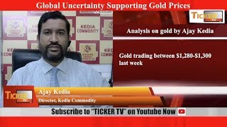 Global Uncertainty Supporting Gold Prices said Ajay Kedia: Ticker Tv