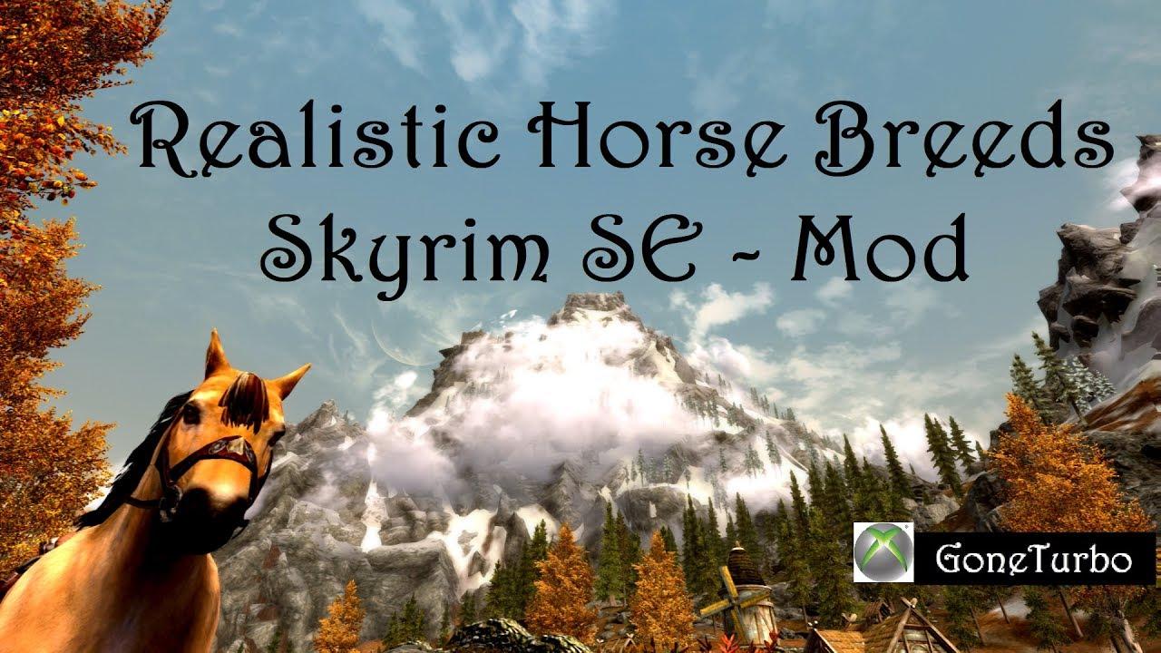 realistic horse mod skyrim se # 9