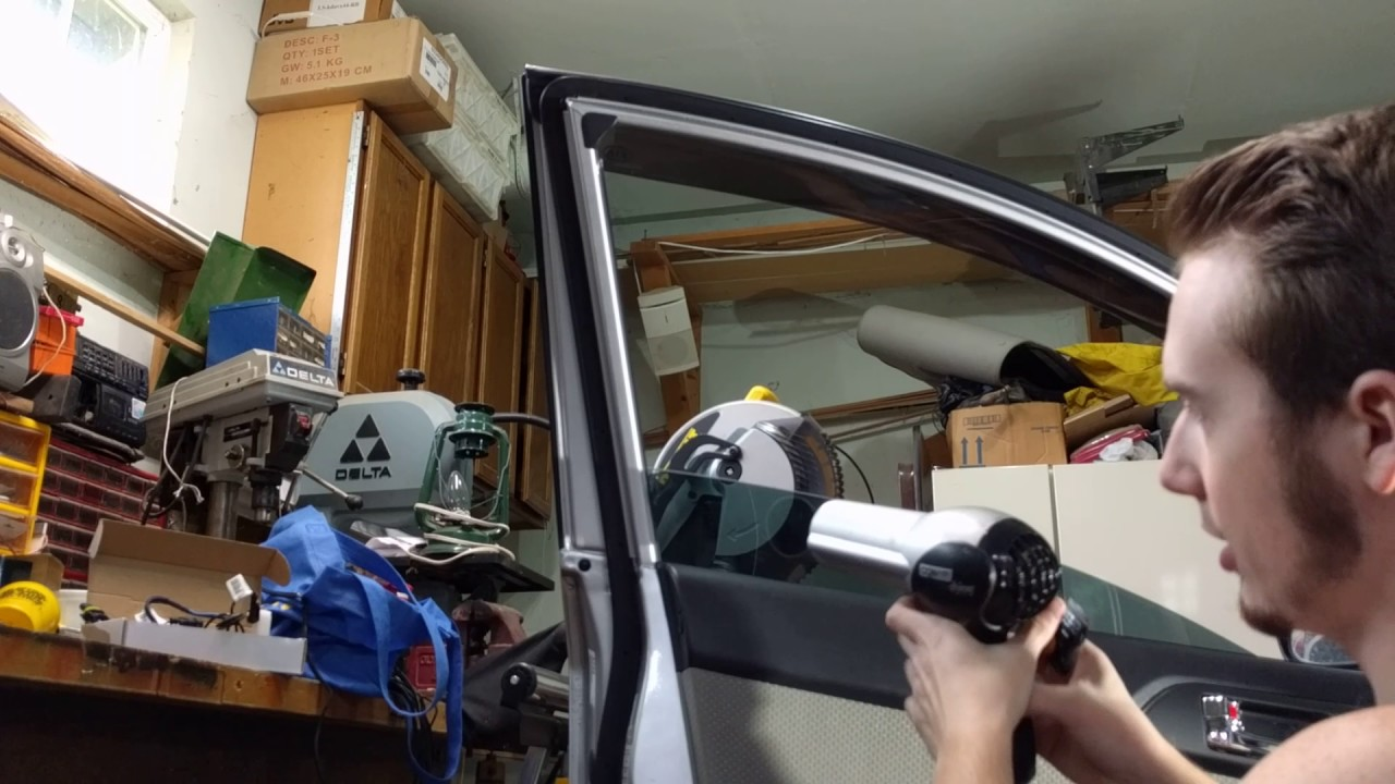 How To Remove Window Tint From Car Windows - YouTube