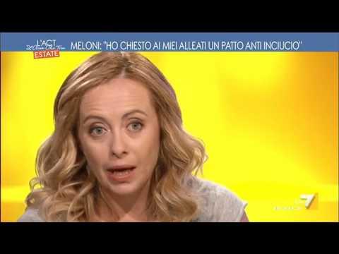 Parla il leader di Fratelli D'Italia, Giorgia Meloni: 'Se andrò al Governo cambierò la ...