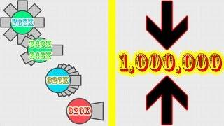 Diep.io - Denied of 1 Million (Octo Tank, Booster, Spreadshot, Machine Gun)
