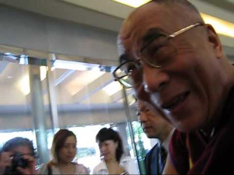 His Holiness The Dalai Lama just stop over Narita in Japan to attends a  conference in Narita April 22, 2009