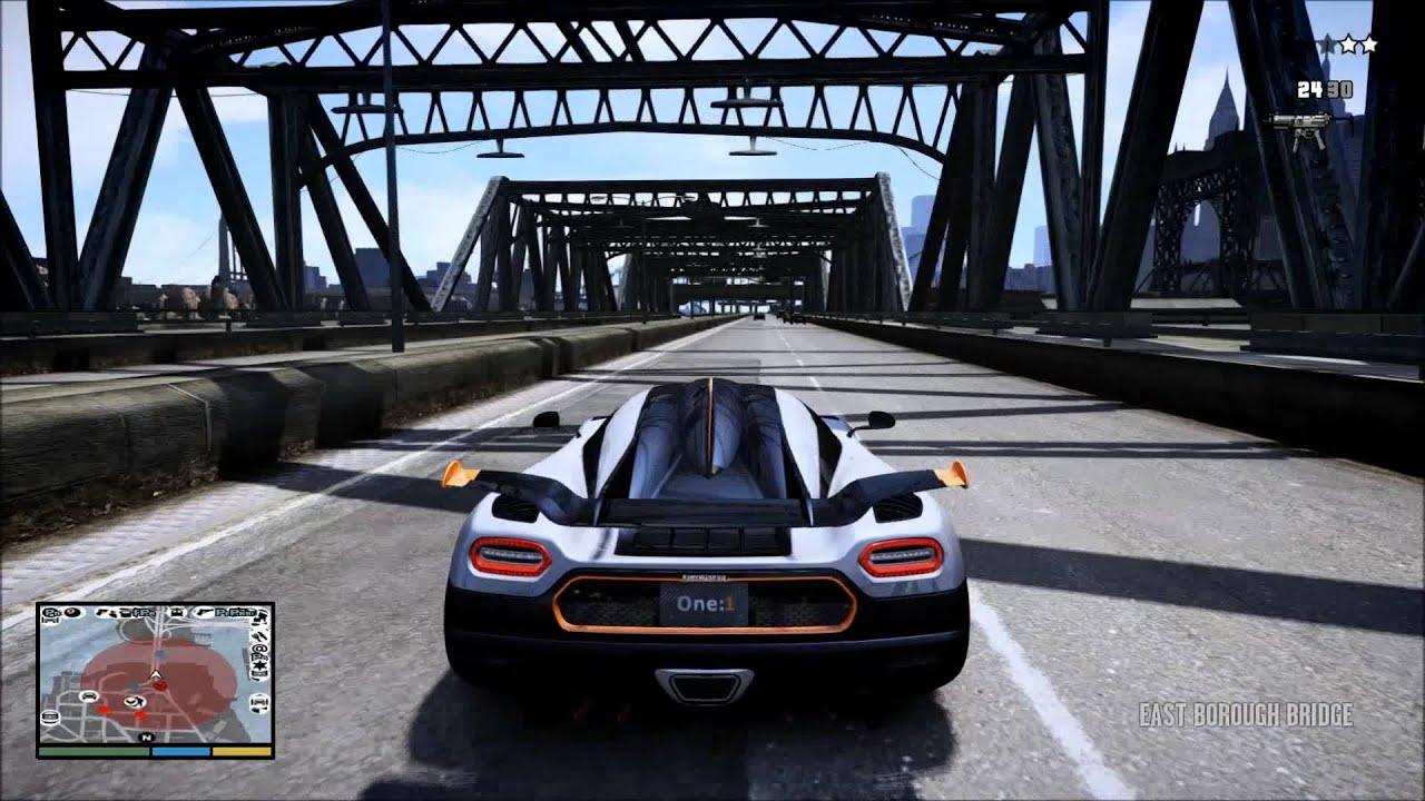 GTA IV: Koenigsegg One:1 Full EPM - YouTube