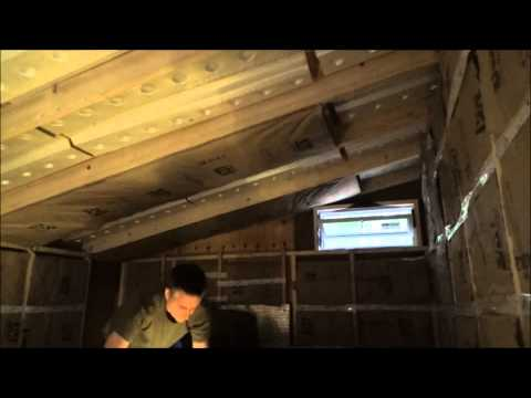 Installing Ceiling Vent Baffles And Insulation In My Tiny House S23