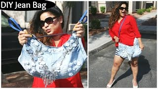 DIY Fashion Jeans BAG ( recycled denim) DIY Bag | Pretty | Easy | Affordable | By Laxmi Jakkal