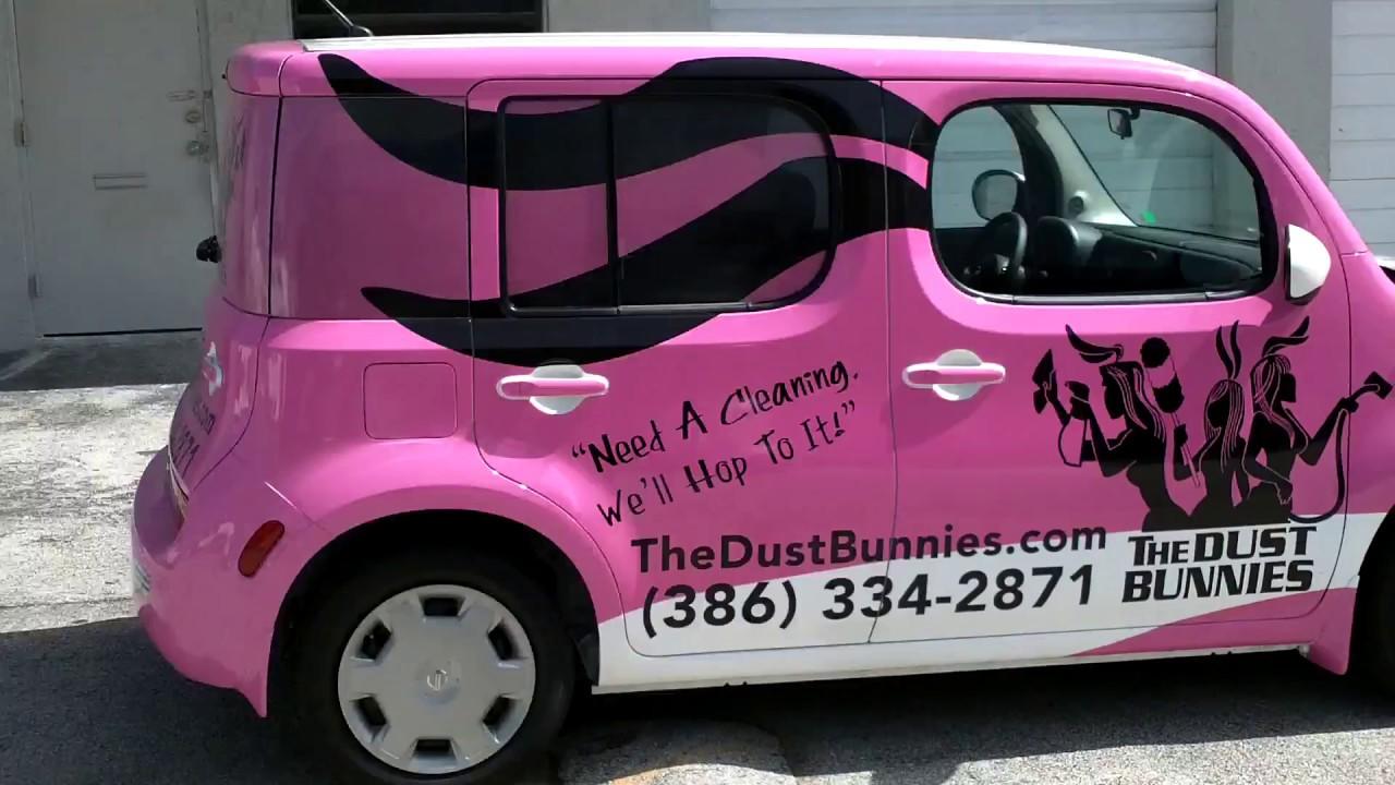 Ft Lauderdale Nissan >> Nissan Cube Car Wrap Fort Lauderdale Dust Bunnies Cleaning