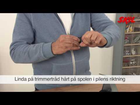 Berömda Hur lindar man om trådspolen i en grästrimmer? - YouTube VI-25