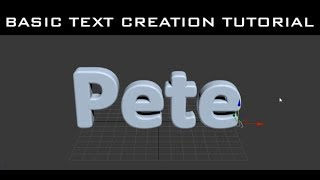 Tutorial - 3ds Max - Basic 3D Text creation methods HD