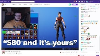 I Donated to a Small Streamer and he SOLD me his Fortnite account..