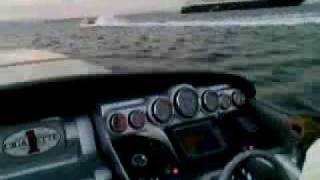 100 mph 2x875 hp power boot pass by another pb and farry ship