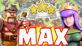 Clash of Clans | MAX HEROES DESTROY TOP TH10 | Are heroes too strong?
