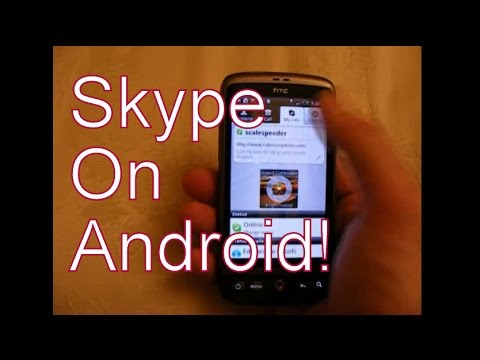 Skype App On Android (HTC Desire Google Android Smart-Phone)