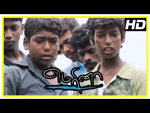 Marina movie climax scene | Kids perform last rites of old man | Kids join school | End Credits