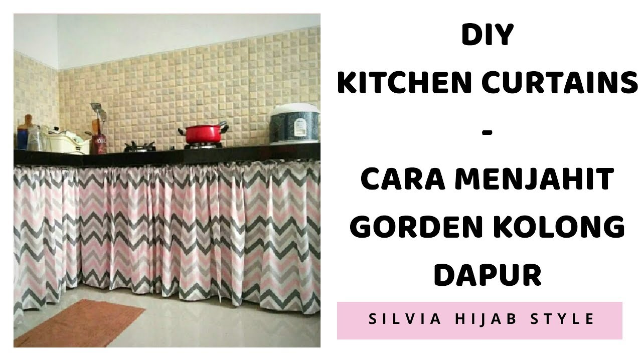 Diy Kitchen Curtains Cara Mengukur Dan Membuat Gorden Kolong Dapur 1 Set Rak Dinding Mudah Praktis