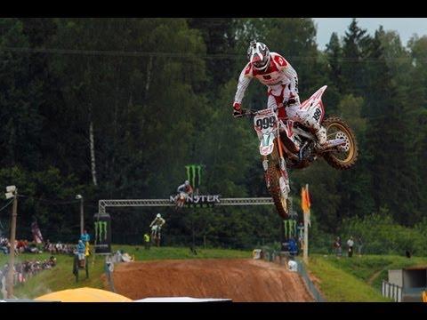 An on-board lap of Kegums, Latvia with Honda World Motocross rider Rui Gonçalves