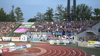 2013/08/04 VSファジアーノ岡山 カンコースタジアム 凄い迫力.