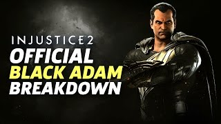 Injustice 2 - Black Adam Official Moveset and Breakdown thumbnail