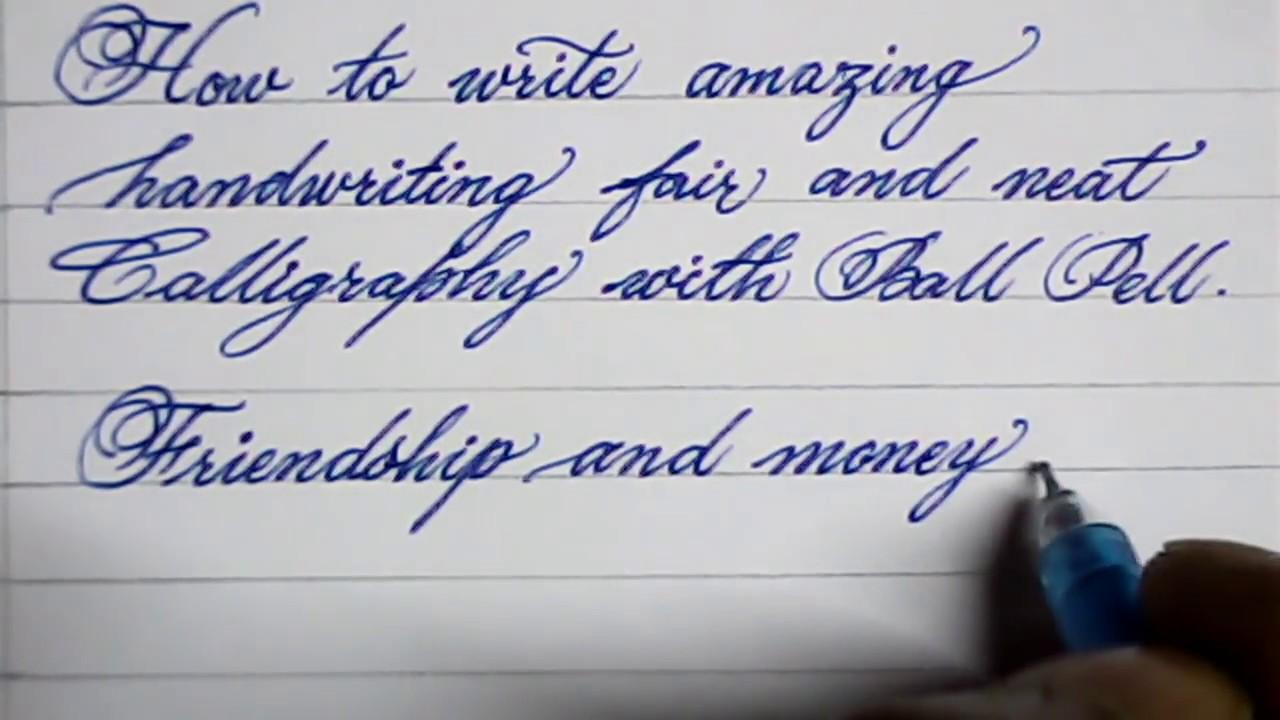 Cursive hand writing  How to write neat cursive handwriting  Mazic Writer