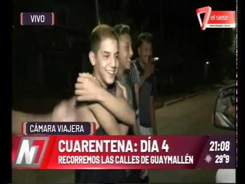 En El Cuarto Día De Cuarentena Julián Chabert Recorrió Las Calles De Guaymallén Con La Cámara Del 7