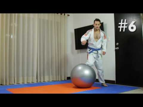 Stability ball drills for jiu jitsu