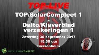 Ereklasse B: TOP/SolarCompleet tegen Dalto/Klaverblad Verzekeringen