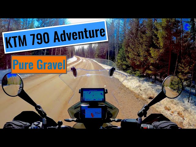 KTM 790 Adventure in Pure Gravel in Finnish Rally Special Stages #shorts
