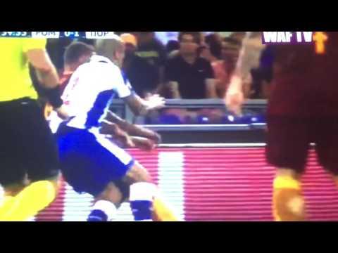 Daniele De Rossi Red Card Roma vs.Porto