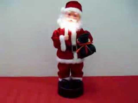 Babbo Natale Musicale.Babbo Natale Con Musica Luce E Movimento Youtube