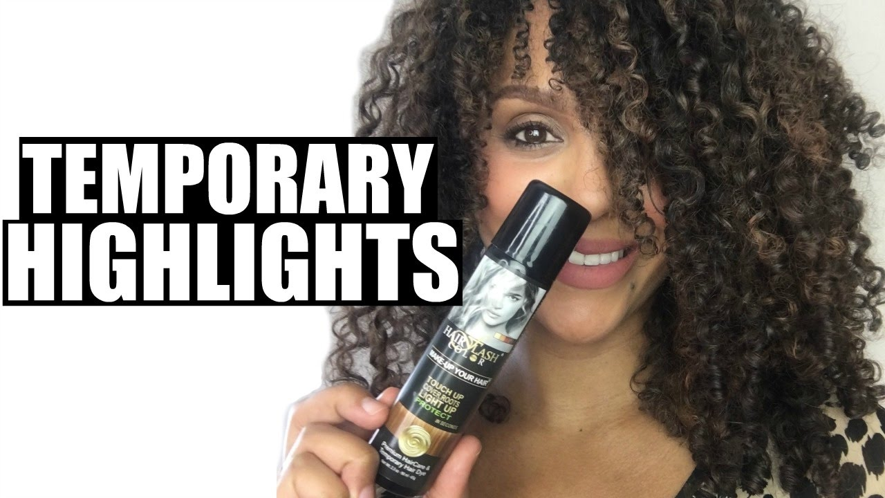 Temporary Highlights With Hair Flash Color Discocurlstv Youtube