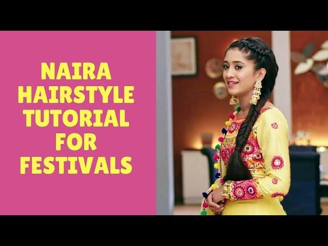 Naira hairstyle in yrkkh/Shivangi joshi hairstyle tutorial(Dutch fishtail braid)