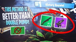 THIS METHOD IS BETTER THAN DOUBLE PUMP! - AFTER PATCH 3.1 (Fortnite Battle Royale)