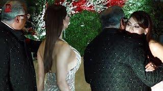 Bonney Kapoor Embraced Urvashi Rautela At Jayantilal Gada's Son Akshay Wedding Reception