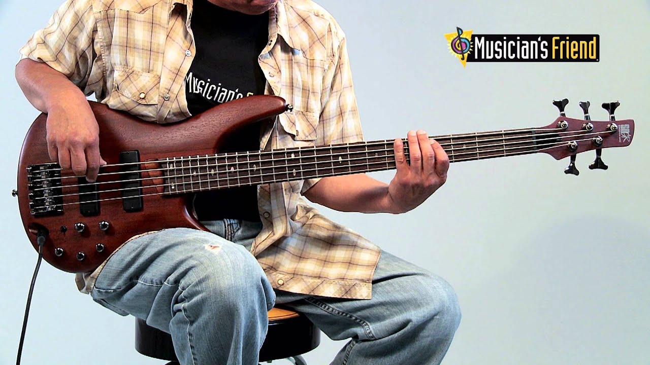 ibanez sr505 5 string electric bass guitar youtube