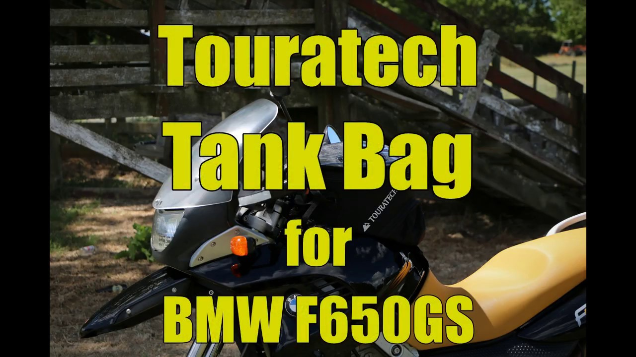 Fitting A Touratech Tank Bag To A Bmw F650gs Youtube