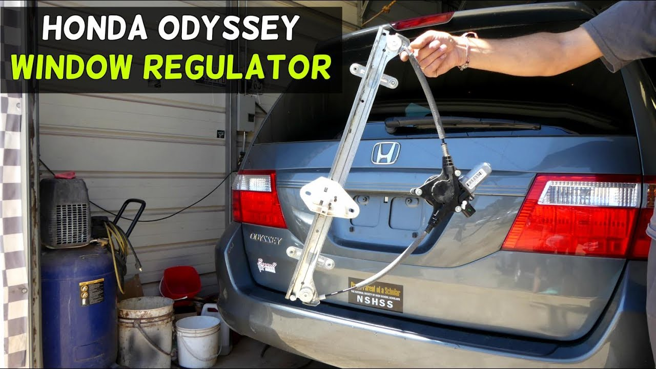 Honda Odyssey Front Window Regulator Removal Replacement