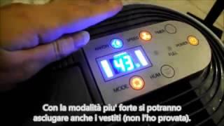 Deumidificatore 12L/D Multi-mode Intelligente Anioni Air Purify Bianco Finether