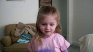 """Julianna singing that """"Fahoo Forays"""" song from the Grinch"""