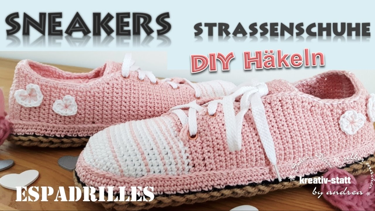 Diy Häkeln Espadrilles Sneakers Mit Outdoor Sohle Aus Jute Wie