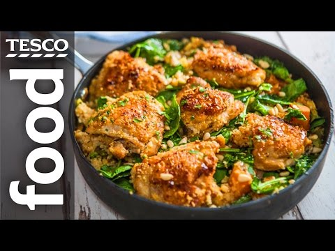 One-Pot Lemon and Thyme Chicken Recipe | #TescoHelpSquad with SORTEDfood