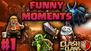 COC FUNNY MOMENTS, Glitches, Fail Compilation #1 | CLASH OF CLANS FUNNY VIDEO