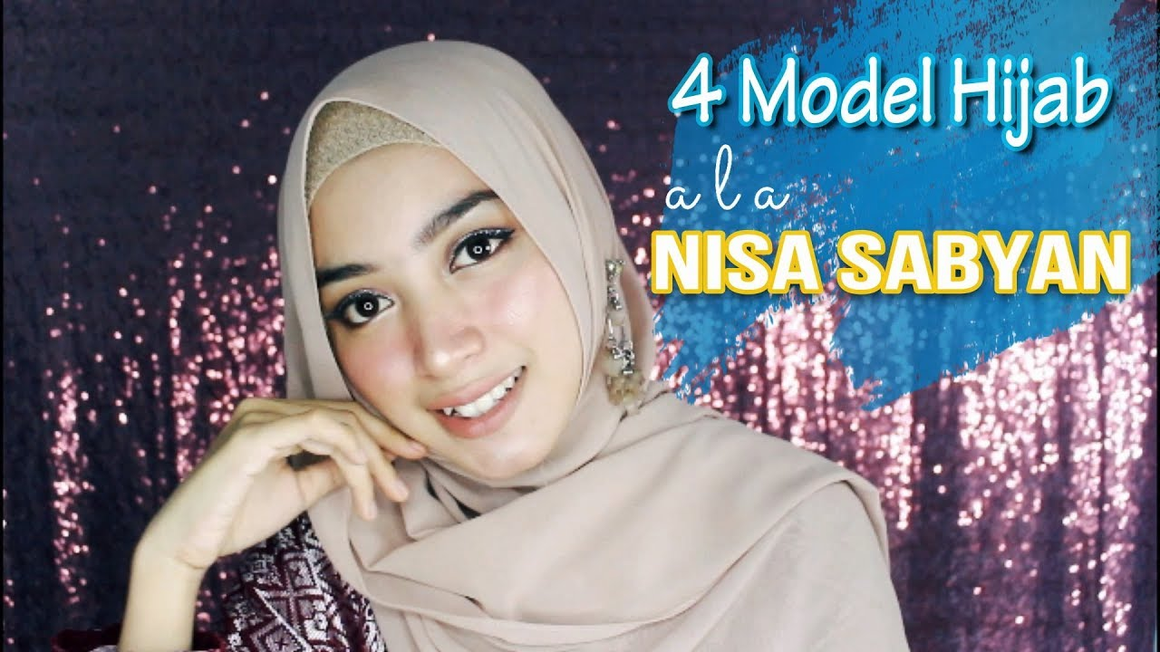 tutorial hijab kekinian ala nissa sabyan 2018 - youtube